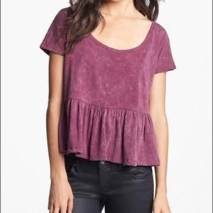 Project Social T peplum tee shirt size small